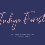 Indigo Forest Script Font