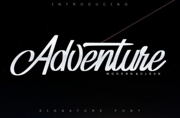 Adventure Calligraphy Font