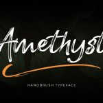Amethyst HandBrush Font