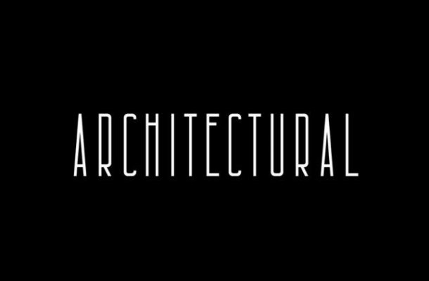 Architectural Display Font