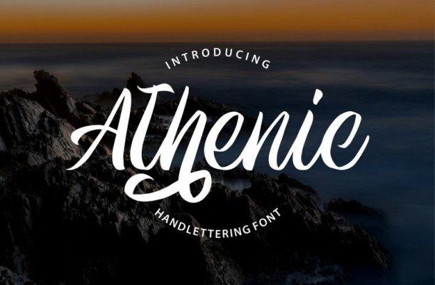 Athenic Script Font