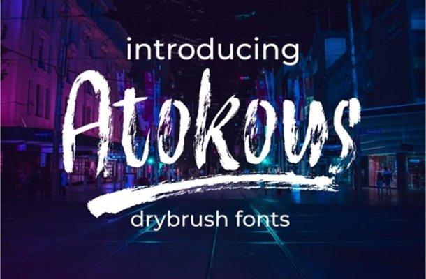 Atokous Brush Font