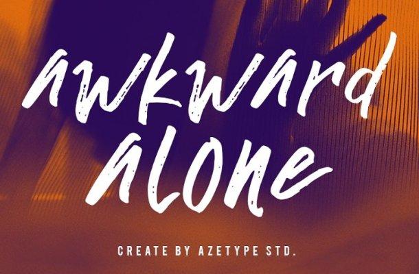 Awkward Alone Font