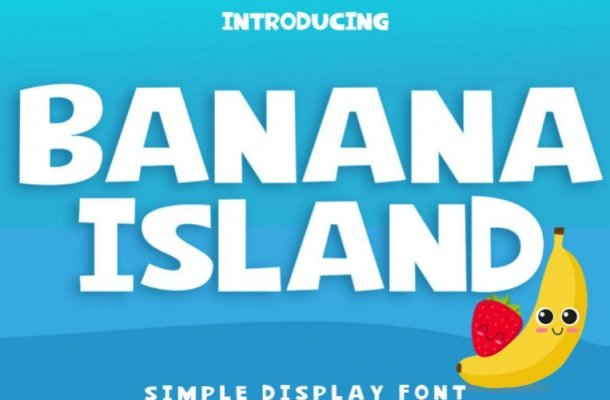 Banana Island Display Font