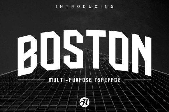 Boston Caps Typeface