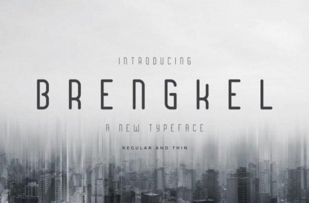Brengkel Condensed Font