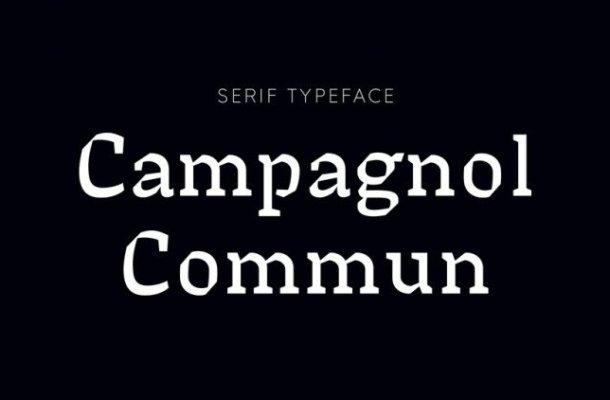 Campagnol Commun Typeface