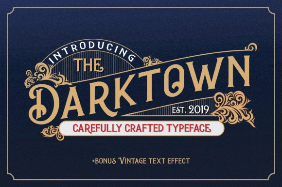 Darktown Display Font