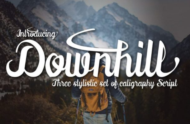 Downhill Calligraphy Font