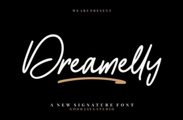 Dreamelly Script Font