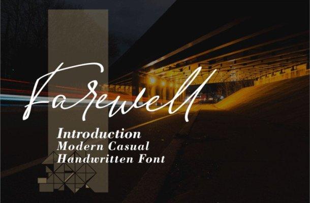 Farewell Handwritten Font