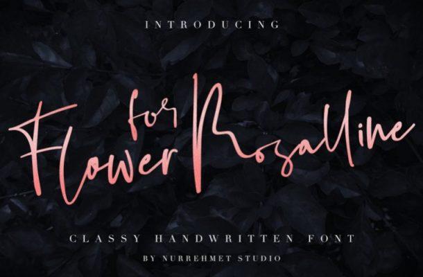 Flower For Rosalline Handwritten Font