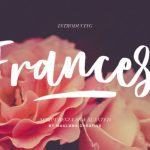Frances Brush Font
