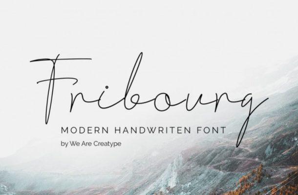 Fribourg Handwritten Font
