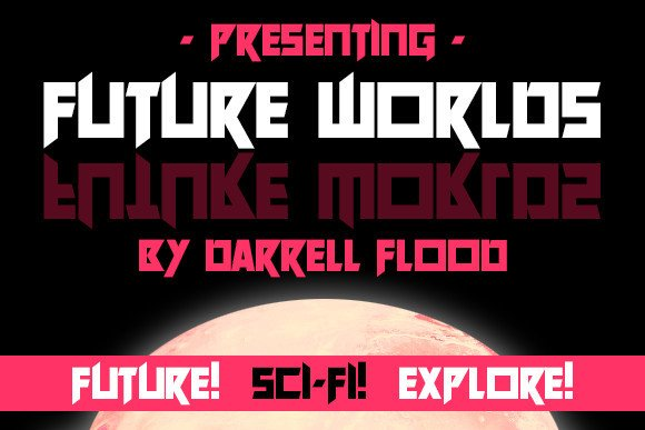 Future Worlds Display Font