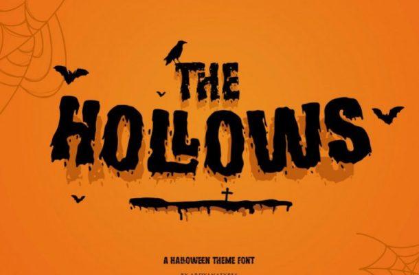 Hollows Display Font