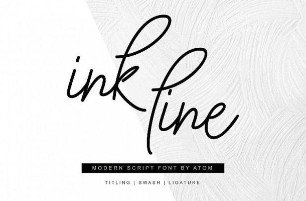 Ink Line Script Font