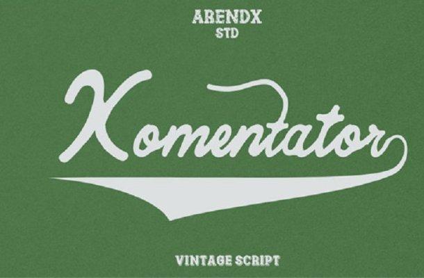 Komentator Script Font