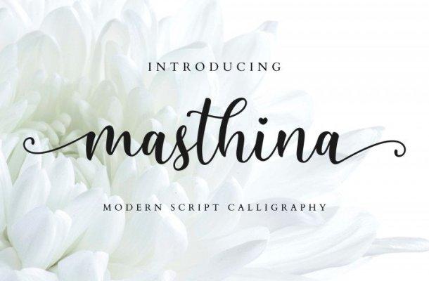 Masthina Calligraphy Font