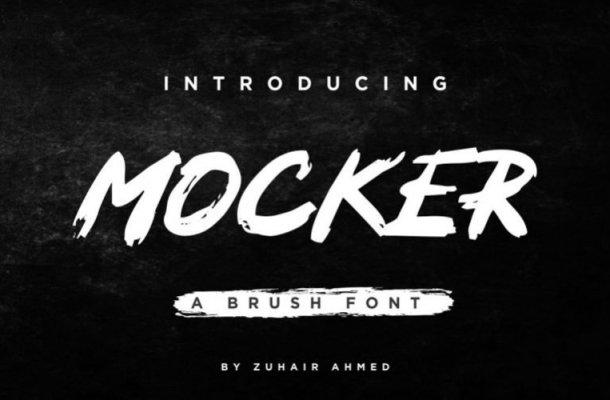 Mocker Brush Font