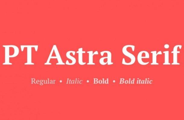 PT Astra Serif Font Family