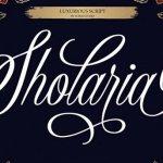 Sholaria Calligraphy Font