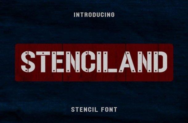 Stenciland Font