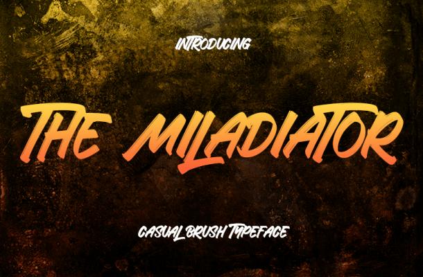 The Miladiator Font