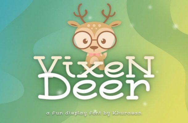 Vixen Deer Display Font