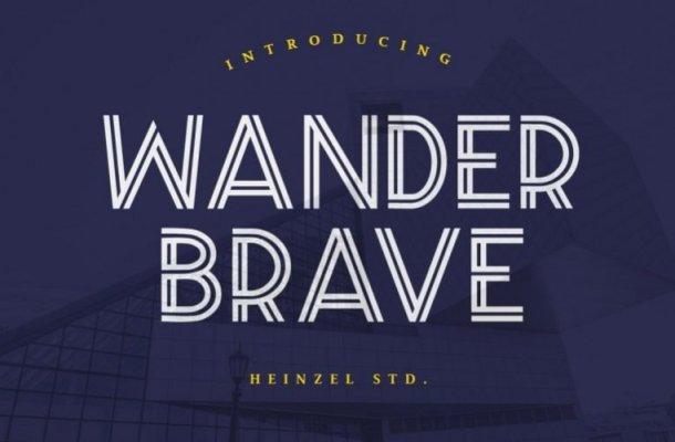 Wander Brave Display Font