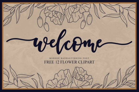 Welcome Calligraphy Font
