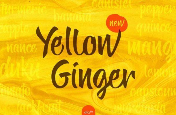 Yellow Ginger Script Font