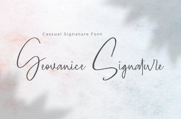 Geovanice Signature Font
