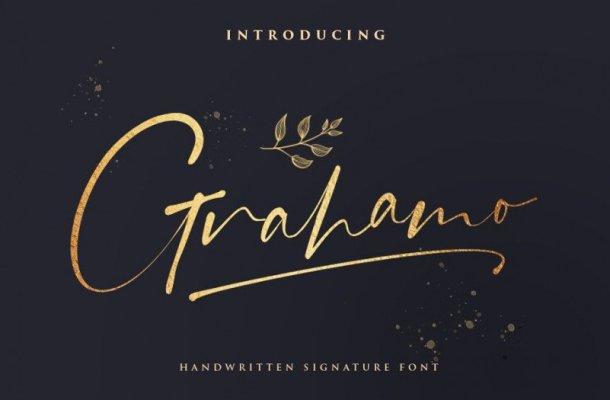 Grahamo Signature Font
