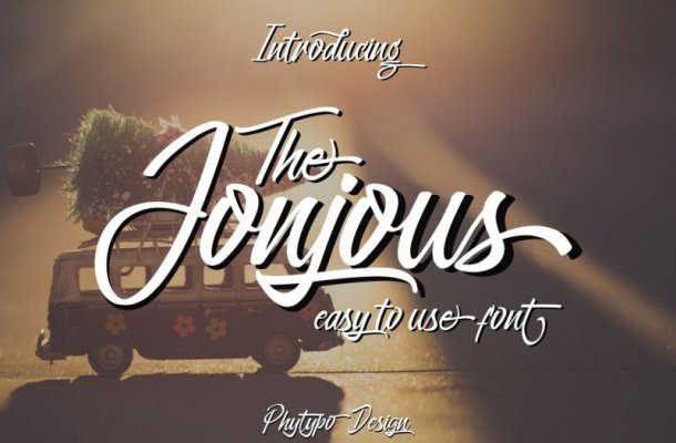 Jonjous Script Font