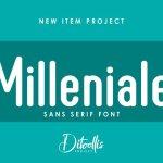 Milleniale Sans serif Font