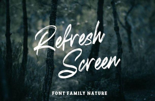Refresh Screen Font
