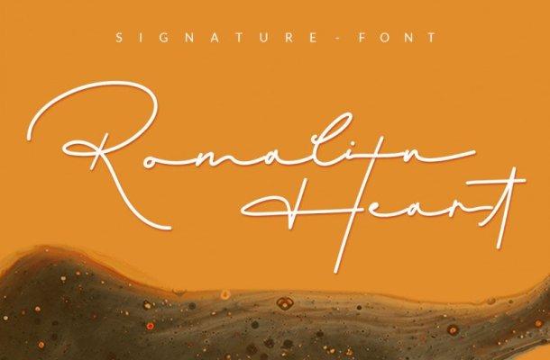 Romalin Heart Signature Font