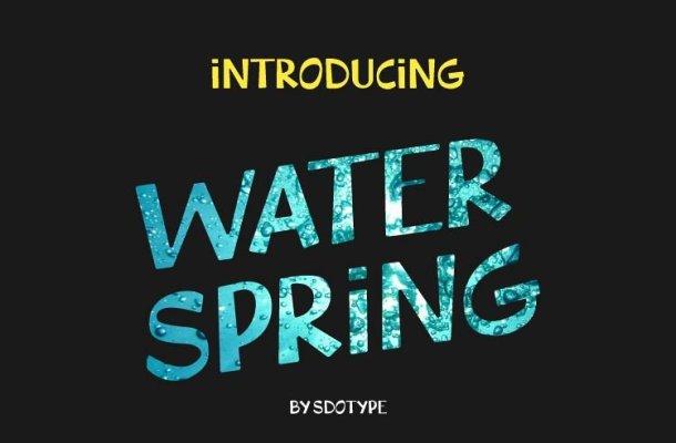 WaterSpring Font