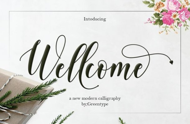 Wellcome Calligraphy Font