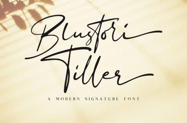 Blustori Tiller Signature Font