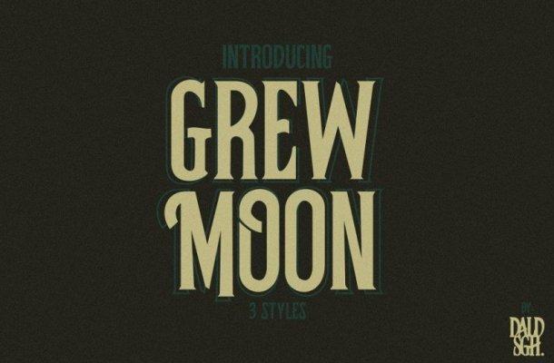 Grewmoon Vintage Font