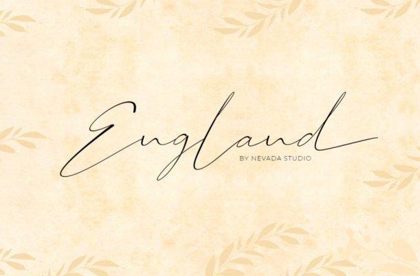 England Handwritten Font Free
