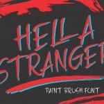 HELLA STRANGER Brush Font Free