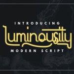 Luminousity – Modern Script Font