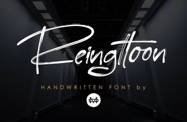 Reingttoon – Handwritten Brush Font