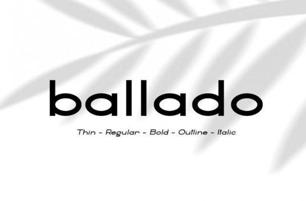 Ballado – Geometric Sans Font