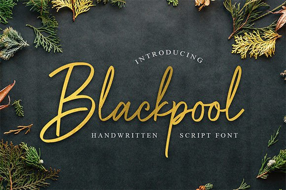 Blackpool Handwritten Font Free