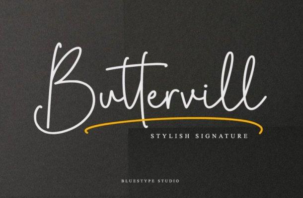 Buttervill Signature Font Free