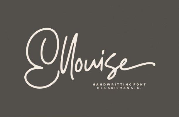 Ellouise Script Font Free